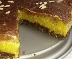 Mangový dortík s čokoládovou polevou