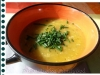 Dýňová polévka s pažitkou