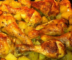 Kuře s bramborem a zeleninou