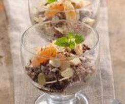 Stracatelo-mandlový dezert