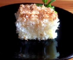 Kokosový koláč se smetanou