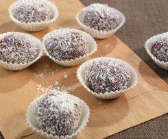 Delikátní čokoládové lanýže s kokosem