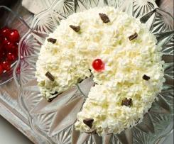 Bílkový ořechový dort