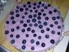 Borůvkový kešu dort s malinami