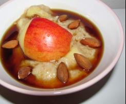 Ovesná kaše s jablky a obilným mlékem