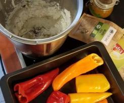 Plněné papriky smetanovým sýrem