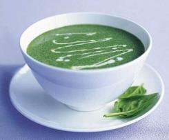Špenátová polévka (ze zmraženého protlaku)