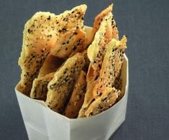 Krekry ze sezamových semínek a máku