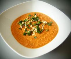 Cizrnová polévka se špenátem