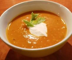Asijská polévka s červenou čočkou