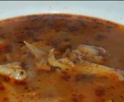 Bezlepková dršťková polévka z hlívy ústřičné