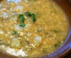 Kapustová polévka s vločkami