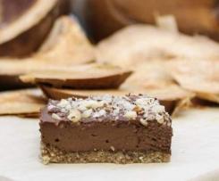 RAW Cuketovo-čokoládové řezy