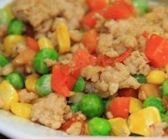 Sójové maso s bramborem a zeleninou