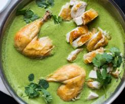 Kuře s hustou zelenou chilli omáčkou