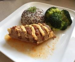 Plněná vepřová panenka s rýží a quinoou