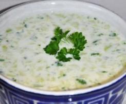Tarator - bulharská studená polévka