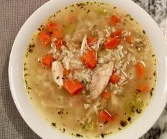 Rýžová polévka s mrkví