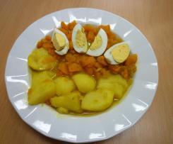 Sladkokyselá mrkev s bramborem a vejcem