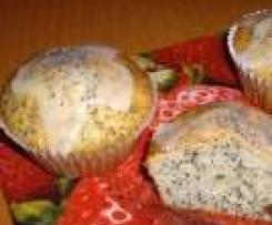 Makové muffiny s rozinkami