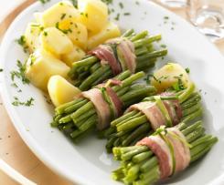 Zelené fazolové lusky s bramborami